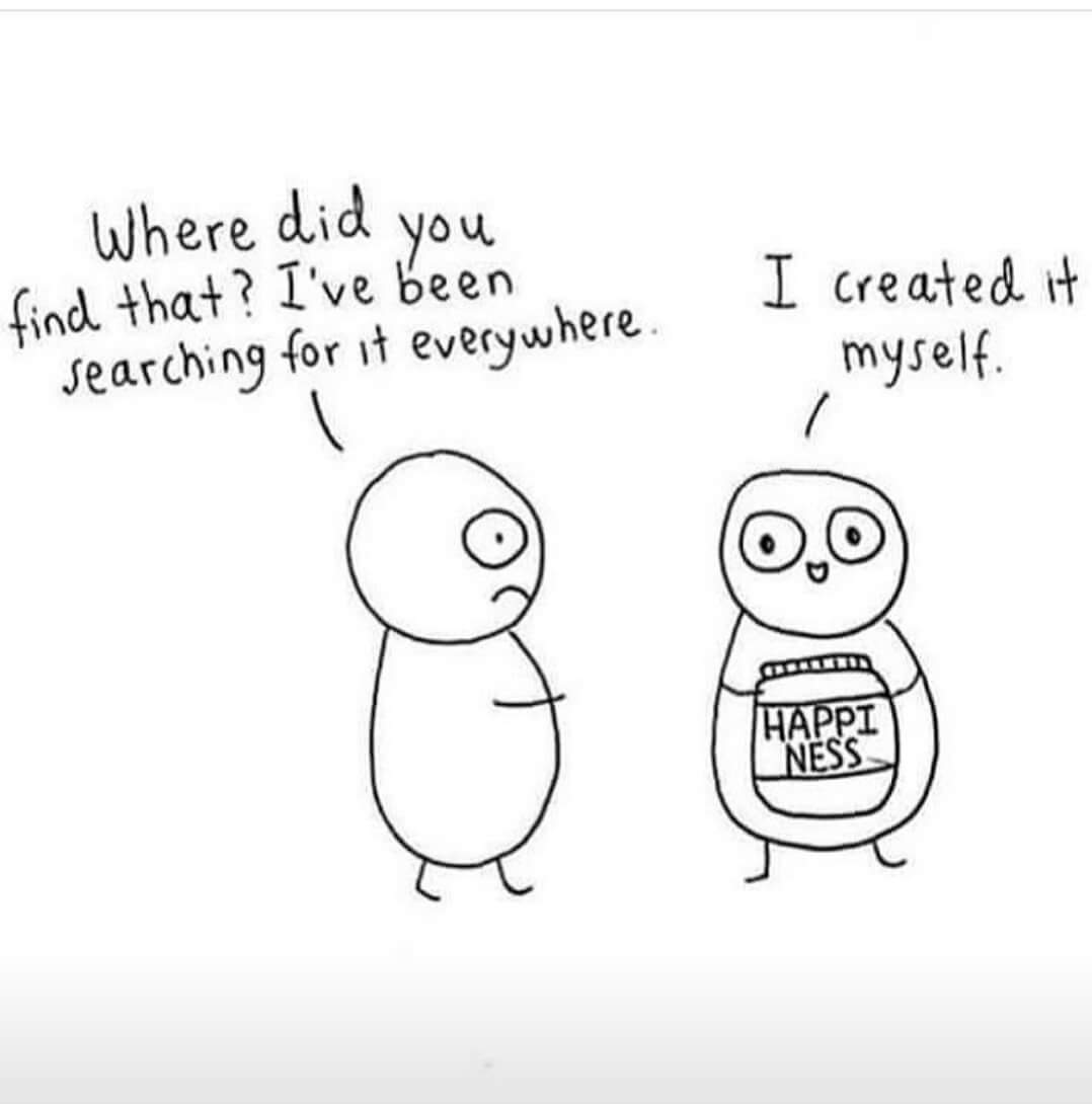 Creating happiness for yourself